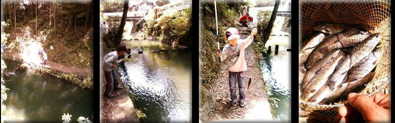 マス釣り場で遊ぶ-4
