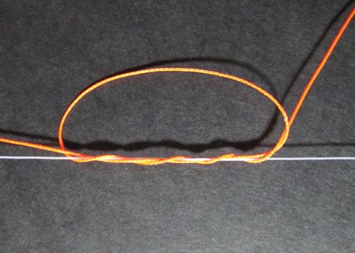 ウキ止めの結び方3